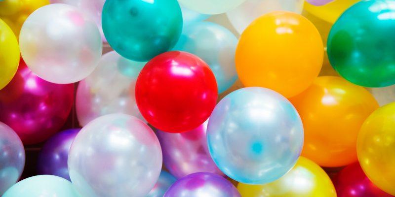 Balloner er festens midtpunkt